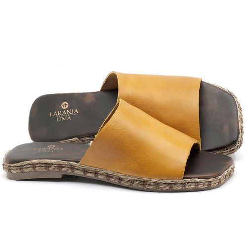 Laranja_Lima_Shoes_Sapatos_Femininos_Sandalia_Rasteira_Flat_em_Couro_Amarelo_-_Codigo_-_9449_1