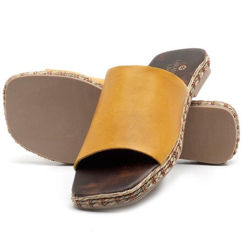 Laranja_Lima_Shoes_Sapatos_Femininos_Sandalia_Rasteira_Flat_em_Couro_Amarelo_-_Codigo_-_9449_2