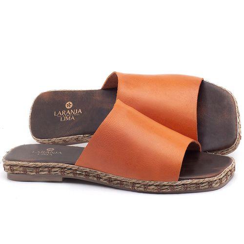 Laranja_Lima_Shoes_Sapatos_Femininos_Sandalia_Rasteira_Flat_em_Couro_Laranja_-_Codigo_-_9449_1