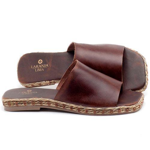 Laranja_Lima_Shoes_Sapatos_Femininos_Sandalia_Rasteira_Flat_em_Couro_Marrom_-_Codigo_-_9449_1