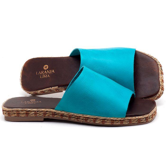 Laranja_Lima_Shoes_Sapatos_Femininos_Sandalia_Rasteira_Flat_em_Couro_Azul_-_Codigo_-_9449_1