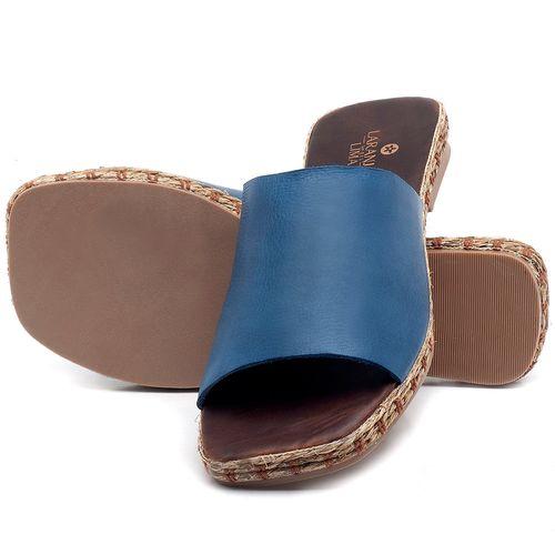 Laranja_Lima_Shoes_Sapatos_Femininos_Sandalia_Rasteira_Flat_em_Couro_Azul_-_Codigo_-_9449_2