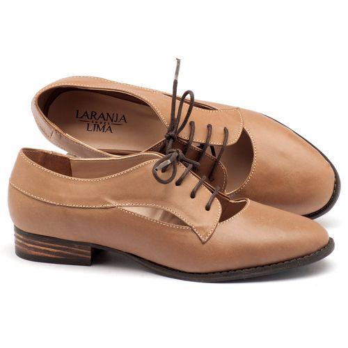 Laranja_Lima_Shoes_Sapatos_Femininos_Oxford_Laranja_Lima_Shoes_Salto_de_2_cm_em_Couro_Bege_-_Codigo_-_9383_1
