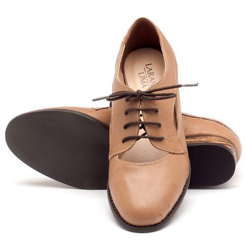 Laranja_Lima_Shoes_Sapatos_Femininos_Oxford_Laranja_Lima_Shoes_Salto_de_2_cm_em_Couro_Bege_-_Codigo_-_9383_2