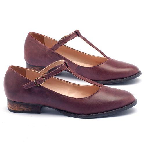 Laranja_Lima_Shoes_Sapatos_Femininos_Oxford_Laranja_Lima_Shoes_Salto_de_2_cm_em_Couro_Bordo_-_Codigo_-_9376_1