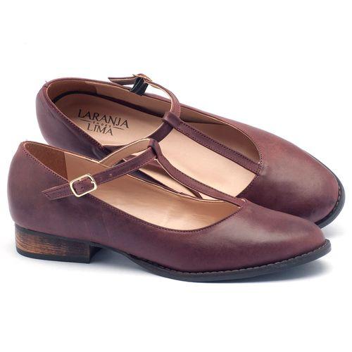 Laranja_Lima_Shoes_Sapatos_Femininos_Oxford_Laranja_Lima_Shoes_Salto_de_2_cm_em_Couro_Bordo_-_Codigo_-_9376_2