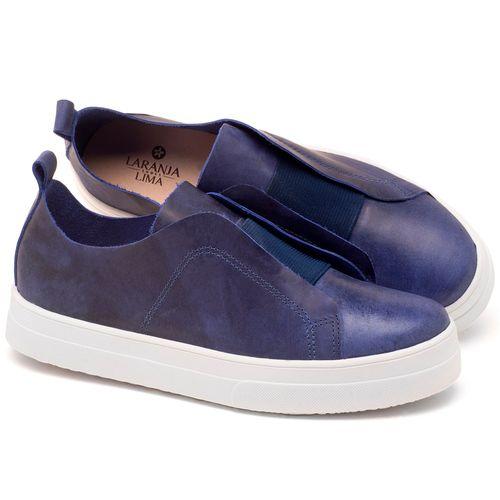 Laranja_Lima_Shoes_Sapatos_Femininos_Tenis_Cano_Baixo_em_Couro_Marinho_-_Codigo_-_9430_1