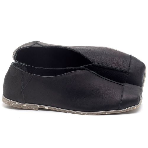 Laranja_Lima_Shoes_Sapatos_Femininos_Sapatilha_Bico_Quadrado_em_Couro_Preto_-_Codigo_-_145034_1