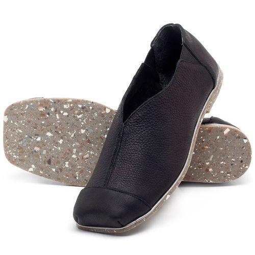 Laranja_Lima_Shoes_Sapatos_Femininos_Sapatilha_Bico_Quadrado_em_Couro_Preto_-_Codigo_-_145034_2