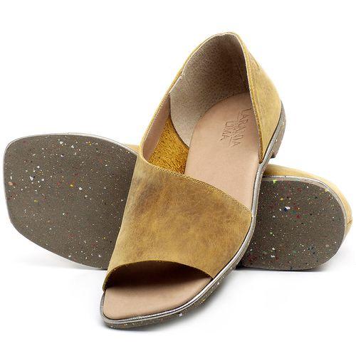 Laranja_Lima_Shoes_Sapatos_Femininos_Sandalia_Rasteira_Flat_em_Couro_Amarelo_-_Codigo_-_145013_2