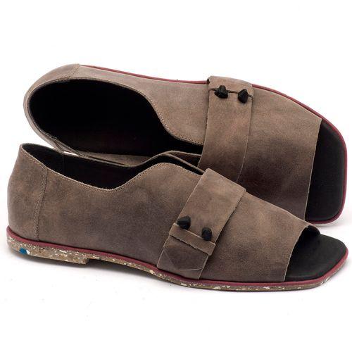 Laranja_Lima_Shoes_Sapatos_Femininos_Sandalia_Rasteira_Flat_em_Couro_Cinza_-_Codigo_-_145002_1