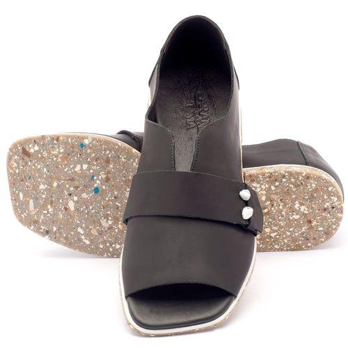 Laranja_Lima_Shoes_Sapatos_Femininos_Sandalia_Rasteira_Flat_em_Couro_Preto_-_Codigo_-_145002_2