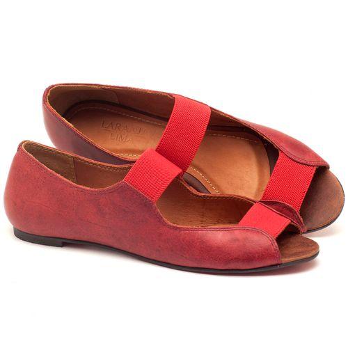 Laranja_Lima_Shoes_Sapatos_Femininos_Sapatilha_Peep_Toe_em_Couro_Vermelho_-_Codigo_-_56030_1