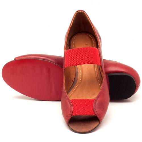 Laranja_Lima_Shoes_Sapatos_Femininos_Sapatilha_Peep_Toe_em_Couro_Vermelho_-_Codigo_-_56030_2