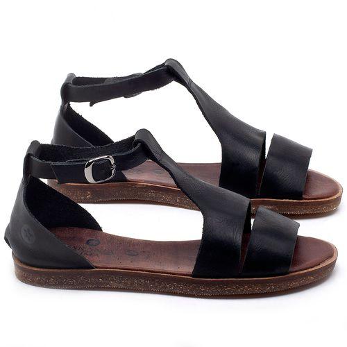 Laranja_Lima_Shoes_Sapatos_Femininos_Sandalia_Rasteira_Flat_em_Couro_Preto_-_Codigo_-_141058_1
