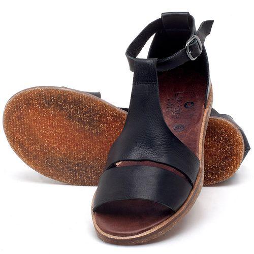 Laranja_Lima_Shoes_Sapatos_Femininos_Sandalia_Rasteira_Flat_em_Couro_Preto_-_Codigo_-_141058_2