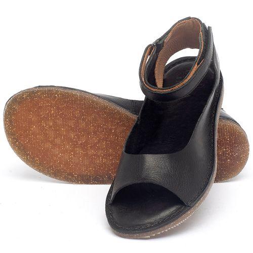 Laranja_Lima_Shoes_Sapatos_Femininos_Sandalia_Rasteira_Flat_em_Couro_Preto_-_Codigo_-_141158_2