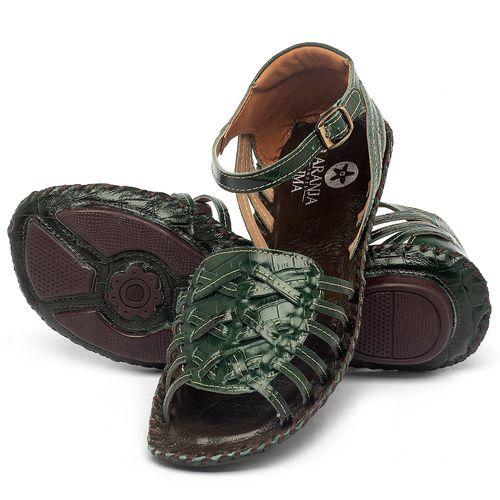 Laranja_Lima_Shoes_Sapatos_Femininos_Sandalia_Rasteira_Flat_em_Couro_Verde_-_Codigo_-_136003_2