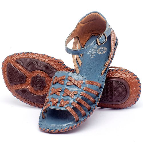 Laranja_Lima_Shoes_Sapatos_Femininos_Sandalia_Rasteira_Flat_em_Couro_Azul_-_Codigo_-_136003_2