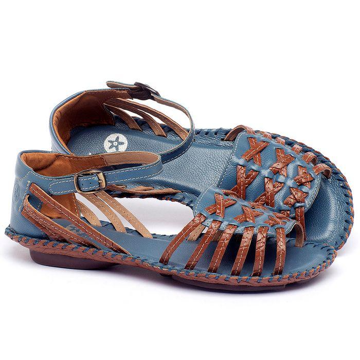 Laranja_Lima_Shoes_Sapatos_Femininos_Sandalia_Rasteira_Flat_em_Couro_Azul_-_Codigo_-_136003_1