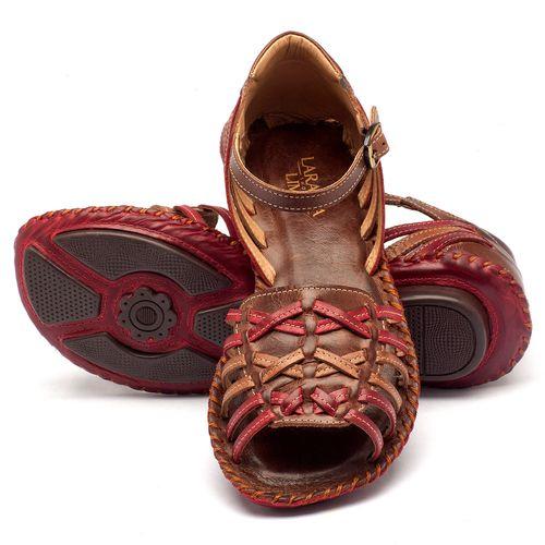 Laranja_Lima_Shoes_Sapatos_Femininos_Sandalia_Rasteira_Flat_em_Couro_Vermelho_-_Codigo_-_136003_2