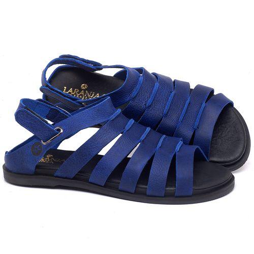 Laranja_Lima_Shoes_Sapatos_Femininos_Sandalia_Rasteira_Flat_em_Couro_Azul_-_Codigo_-_137301_1