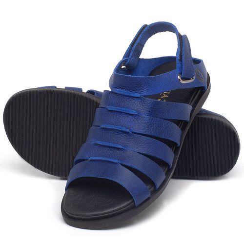 Laranja_Lima_Shoes_Sapatos_Femininos_Sandalia_Rasteira_Flat_em_Couro_Azul_-_Codigo_-_137301_2