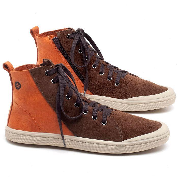 Laranja_Lima_Shoes_Sapatos_Masculinos_Tenis_Masculino_Cano_Alto_em_Couro_Laranja_-_Codigo_-_141087_1