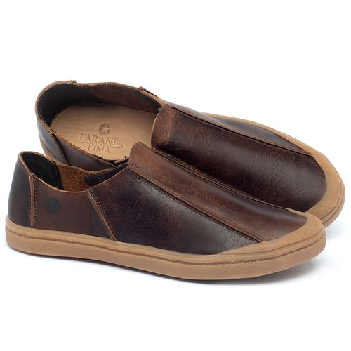 Laranja_Lima_Shoes_Sapatos_Masculinos_Tenis_Masculino_Cano_Baixo_em_Couro_Marrom_-_Codigo_-_141175_1