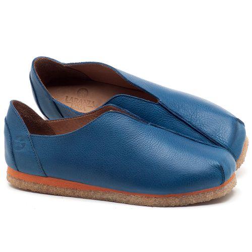 Laranja_Lima_Shoes_Sapatos_Femininos_Sapatilha_Bico_Quadrado_em_Couro_Azul_-_Codigo_-_3050_1