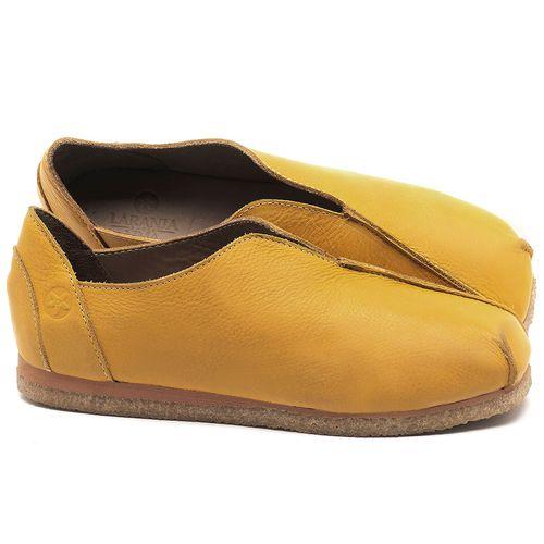 Laranja_Lima_Shoes_Sapatos_Femininos_Sapatilha_Bico_Quadrado_em_Couro_Amarelo_-_Codigo_-_3050_1