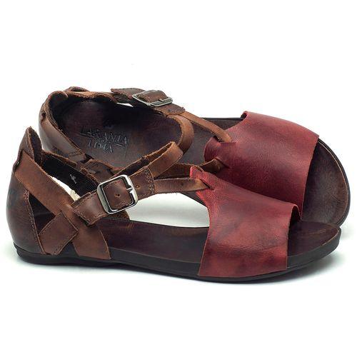 Laranja_Lima_Shoes_Sapatos_Femininos_Sandalia_Rasteira_Flat_em_Couro_Vinho_-_Codigo_-_137187_1
