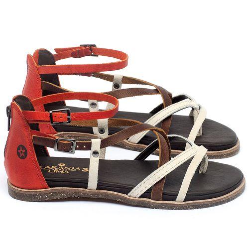 Laranja_Lima_Shoes_Sapatos_Femininos_Sandalia_Rasteira_Flat_em_Couro_Bicolor_-_Codigo_-_137300_1