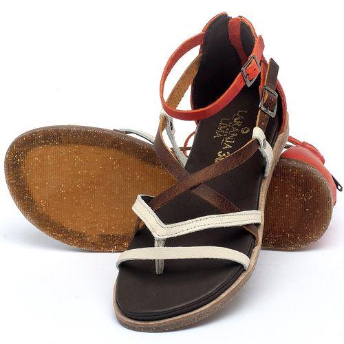Laranja_Lima_Shoes_Sapatos_Femininos_Sandalia_Rasteira_Flat_em_Couro_Bicolor_-_Codigo_-_137300_2
