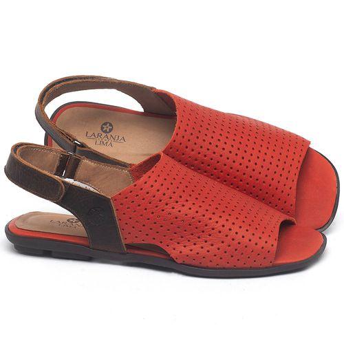 Laranja_Lima_Shoes_Sapatos_Femininos_Sandalia_Rasteira_Flat_em_Couro_Vermelho_-_Codigo_-_9482_1