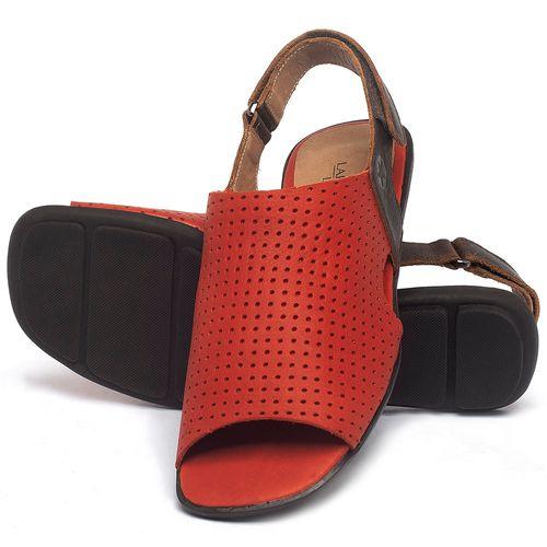Laranja_Lima_Shoes_Sapatos_Femininos_Sandalia_Rasteira_Flat_em_Couro_Vermelho_-_Codigo_-_9482_2