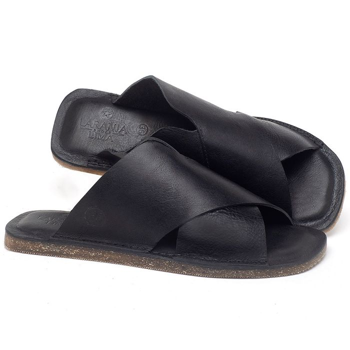 Laranja_Lima_Shoes_Sapatos_Femininos_Sandalia_Rasteira_Flat_em_Couro_Preto_-_Codigo_-_141155_1