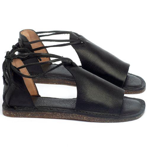 Laranja_Lima_Shoes_Sapatos_Femininos_Sandalia_Rasteira_Flat_em_Couro_Preto_-_Codigo_-_141164_1