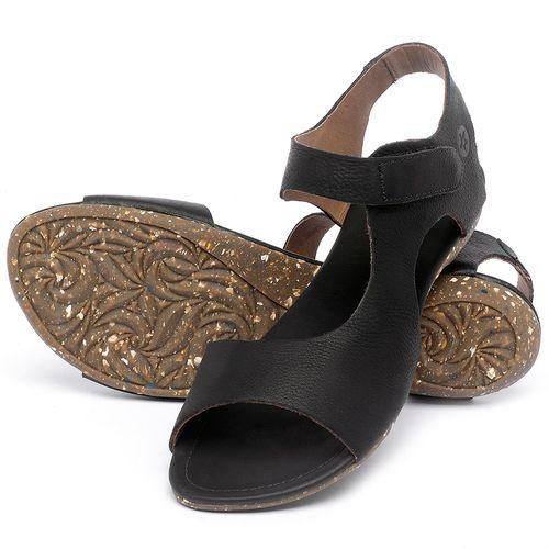 Laranja_Lima_Shoes_Sapatos_Femininos_Sandalia_Rasteira_Flat_em_Couro_Preto_-_Codigo_-_148026_2