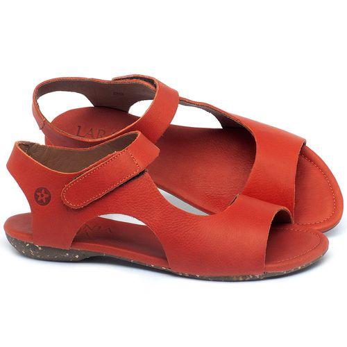Laranja_Lima_Shoes_Sapatos_Femininos_Sandalia_Rasteira_Flat_em_Couro_Vermelho_-_Codigo_-_148026_1