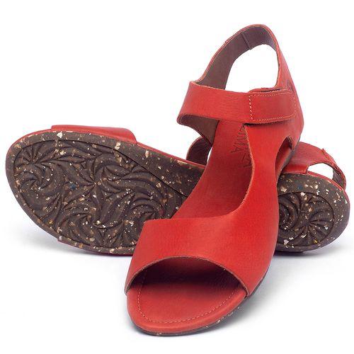 Laranja_Lima_Shoes_Sapatos_Femininos_Sandalia_Rasteira_Flat_em_Couro_Vermelho_-_Codigo_-_148026_2