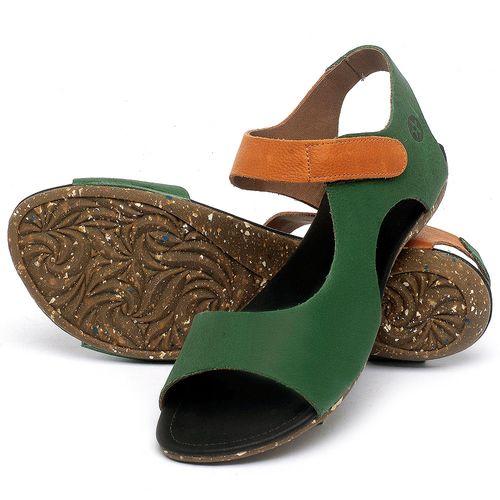 Laranja_Lima_Shoes_Sapatos_Femininos_Sandalia_Rasteira_Flat_em_Couro_Verde_-_Codigo_-_148026_2