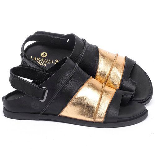 Laranja_Lima_Shoes_Sapatos_Femininos_Sandalia_Rasteira_Flat_em_Couro_Preto_-_Codigo_-_137185_1