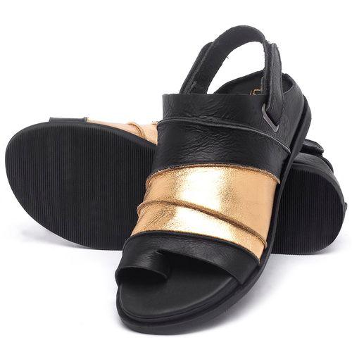 Laranja_Lima_Shoes_Sapatos_Femininos_Sandalia_Rasteira_Flat_em_Couro_Preto_-_Codigo_-_137185_2