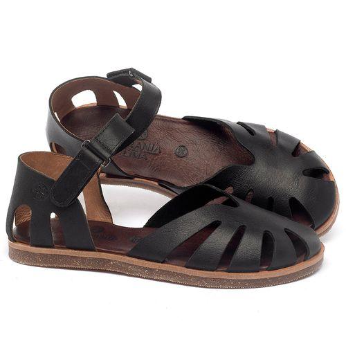 Laranja_Lima_Shoes_Sapatos_Femininos_Sandalia_Rasteira_Flat_em_Couro_Preto_-_Codigo_-_141017_1
