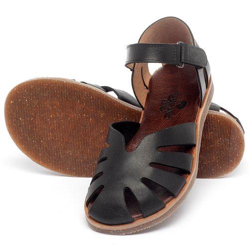 Laranja_Lima_Shoes_Sapatos_Femininos_Sandalia_Rasteira_Flat_em_Couro_Preto_-_Codigo_-_141017_2