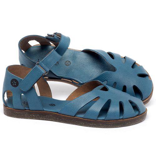 Laranja_Lima_Shoes_Sapatos_Femininos_Sandalia_Rasteira_Flat_em_Couro_Azul_-_Codigo_-_141017_1