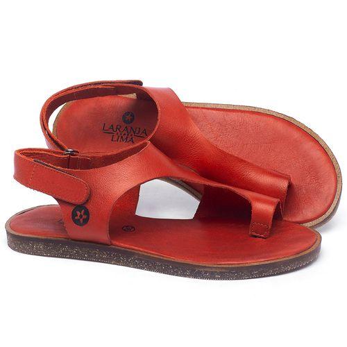 Laranja_Lima_Shoes_Sapatos_Femininos_Sandalia_Rasteira_Flat_em_Couro_Vermelho_-_Codigo_-_141102_1