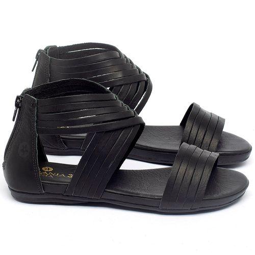 Laranja_Lima_Shoes_Sapatos_Femininos_Sandalia_Rasteira_Flat_em_Couro_Preto_-_Codigo_-_137189_1
