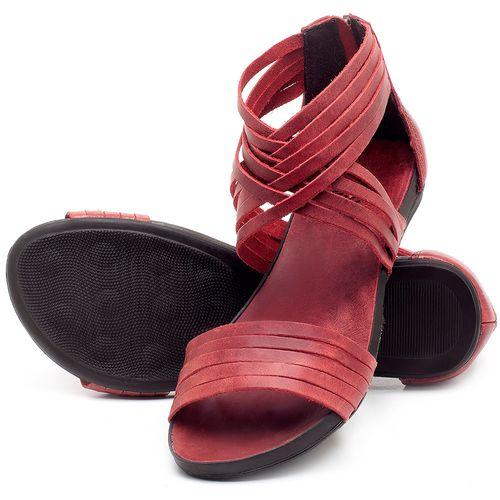 Laranja_Lima_Shoes_Sapatos_Femininos_Sandalia_Rasteira_Flat_em_Couro_Vermelho_-_Codigo_-_137189_2